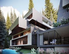 Outdoor Swimming Pool, Swimming Pools, Spa Center, Other Space, Glass Facades, Metal Structure, Organic Architecture, Design Projects, Behance