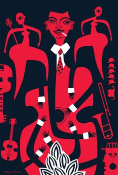 #Swing   #Jazz  #illustration by Nearchos Ntaskas