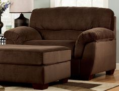 Oversized chair and ottoman