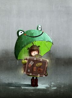Find images and videos about cute, drawing and umbrella on We Heart It - the app to get lost in what you love. Art And Illustration, Art Fantaisiste, Art Mignon, Umbrella Art, Whimsical Art, Rainy Days, Mail Art, Cute Art, Concept Art