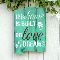 Home Wooden Wall Art Sign - Rustic Hand Crafted Wood Pallet