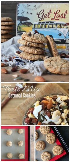 Every adventurer needs to stop sometimes to refuel. These quick and easy trail mix oatmeal cookies are a great source of energy, the perfect fuel for adventures, plus they taste fantastic and the kids love them! Check out the 'Food Bloggers for Volkswagen' board for more creative travel themed recipe ideas.
