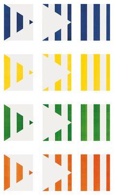 Daniel Buren. 1 + 2 = 3 (Triptych)