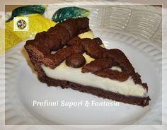 Crostata di frolla al cacao con crema e ricotta Blog Profumi Sapori & Fantasia