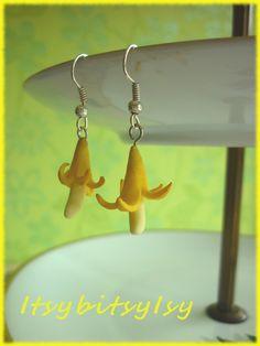 Banana earrings on ItsybitsyIsy https://www.etsy.com/listing/154524132/banana-earrings?ref=shop_home_active