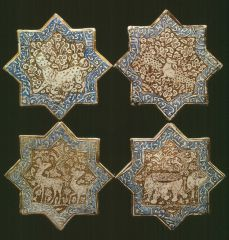 Star-shaped tiles Location: Rome, Italy Holding Museum: National Museum of Oriental Art (Museo Nazionale d'Arte Orientale) Date of Object: Hegira / AD centuries Dimensions: Width Period / Dynasty Ilkhanid Provenance: Iran. Oriental, Ancient Persian, Islamic Patterns, Islamic Paintings, Antique Tiles, Iranian Art, Virtual Museum, Mosaic Art, Mosaic Tiles
