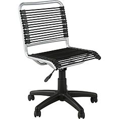 This classy office chair from Euro Style combines premium construction with modern design. It offers the ability to swivel, roll around the office on premium c High Back Office Chair, Black Office Chair, Office Chairs, Pink Office, Black Desk, Bungee Chair, Adjustable Office Chair, Old Chairs, Furniture Chairs