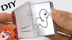 Animatie boekje zelf knutselen - flipboekje wormpje