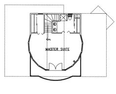 Image Of Large Third Floor For House Plan 088D-0212-perfect, the master suite is buy itself on the top floor...i would take out the closet in the bathroom and put in a tub...