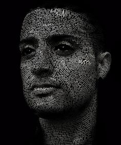 typographic portrait | Flickr - Photo Sharing!