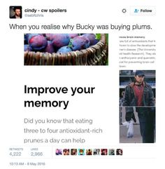 On why Bucky was actually buying those plums: SAY WHAT? I see you Marvel Marvel Jokes, Marvel Funny, Marvel Dc Comics, Marvel Avengers, Marvel Heroes, Captain America Civil War, Captain America Humor, Bucky Barnes Captain America, Fandoms