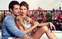 Flare directs a dolce and gabbana light blue photo shoot - David Gandy and Bianca Balti - september 2014