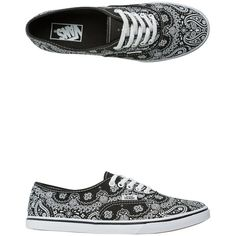 Vans Bandana Authentic Lo Pro Shoe ($50) ❤ liked on Polyvore featuring shoes, sneakers, vans sneakers, woven shoes, vans shoes, light weight shoes and low top shoes