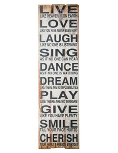 Home - Duvets, Furniture & Decor Live Laugh Love, Live Love, Dance Dreams, Word Tattoos, Decorating Your Home, It Hurts, Wall Art, Words, Message Board