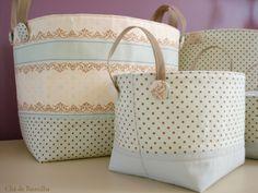 Chá de Baunilha: Cestos Organizadores / Fabric Baskets