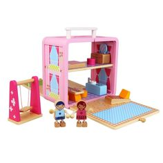 Boxset Dollhouse Wooden Toy By Tiger Tribe - Hip Kids