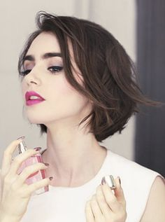Lily Collins for Lancôme// Miracle Blossom (Hanna Besirevic).  pinterest: ☞ katebrixx
