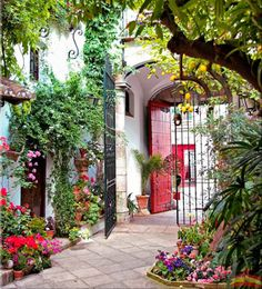 The Refectory Cafe and Ward's Island–Toronto-jewels at the foot of the city Spanish Revival, Spanish Colonial, Garden Gates, Balcony Garden, Mexican Hacienda, Toronto Island, Southwestern Home, Andalucia, Home Living