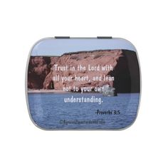 Trust in the Lord Bible Quotes Jelly Belly Tin SEE DAILY PROMO CODES: www.zazzle.com/agrainofmustardseed