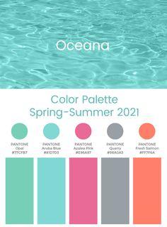 Trend Color Palette Spring-Summer 2021 Oceana  #color #trends