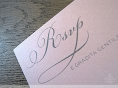 wedding invitations pink-gray