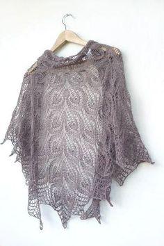 Dusty brown Knit shawl, hand knit shawl, floral lace shawl, brown shawl. $80.00, via Etsy.