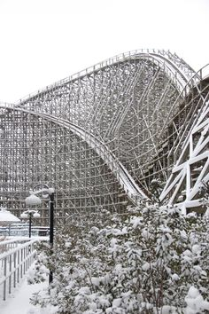 The Mean Streak in snow. (From the Cedar Point Facebook page.)