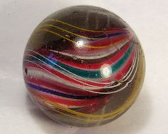ANTIQUE LARGE ART GLASS MARBLE