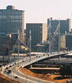 Nelson Mandela Bridge, Johannesburg South Africa Johannesburg Skyline, Kaizer Chiefs, Virtual Travel, Pretoria, Nelson Mandela, Rest Of The World, Civil Engineering, Africa Travel, Silhouette Projects