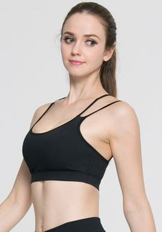 94d4a3d37f Medium Support Solid Color Ultra-Soft Yoga Bra. Yoga BraWorkoutYoga TopsRunning  WomenYoga FitnessTank ...