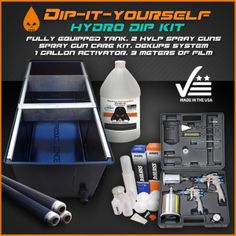 90 best spray paint dipping images on pinterest hydrodipping diy hydrographics dip shop tank devilbiss kit hydrodipping diyhydrographic solutioingenieria Image collections