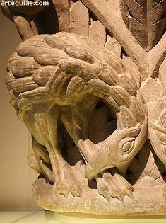 Capitel del Maestro Esteban de la antigua catedral de Pamplona románica
