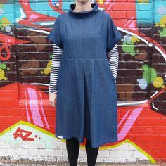 Pull-on Shift Dress PDF Pattern - Miy Collection