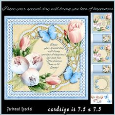 Lots of happiness blue card topper with inlet 943 on Craftsuprint - View Now!