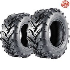 2 Pair of Maxxis // CST Abuzz 26x8-12 ATV Tires 6ply