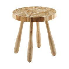 #Mesa auxiliar con #mosaicos en #madera de teka #reciclada