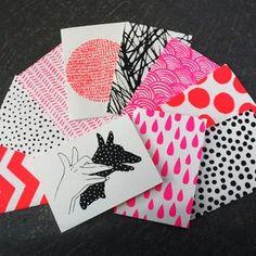 """Image of SET OF 10 HANDPRINTED CARDS"" https://sumally.com/p/821067"