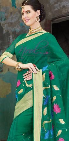 http://www.nool.co.in/product/sarees/kanchipuram-cotton-saris-green-chanderi-swan-work-c9j12