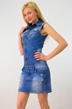 Γυναικείο τζιν φόρεμα | POTRE Overall Shorts, Overalls, Summer Dresses, Women, Fashion, Moda, Summer Sundresses, Fashion Styles, Jumpsuits