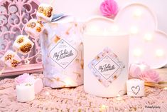 my-jolie-candle-bougie-bijou-swarovski-argent-cadeau-maman-mamie-femme-makeupbyazadig-collector-chamallow-avis-prix-miniature Image Bougie, Deco Pastel, Candels, Just Girly Things, Pink Love, Miniatures, Gift Wrapping, Jewels, Table Decorations