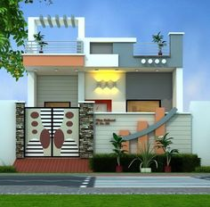 house front design single floor 3 Marla House On Easy Installment Plan Ferozepur R House Front Wall Design, Single Floor House Design, Bungalow House Design, Small House Design, Modern House Design, Front Elevation Designs, House Elevation, Building Elevation, Compound Wall Design