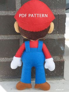 PDF pattern to make a felt Mario Bros. di Kosucas su Etsy