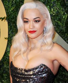Rita Ora's makeup for the British Fashion Awards 2013. Bridal makeup inspiration!