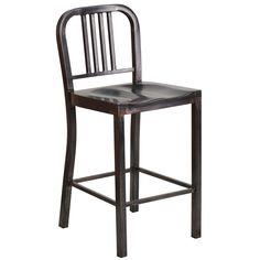 Flash Furniture Antique Metal Bar Stool