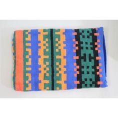 NEW Proenza Schouler Black Blue Orange Geometric Print Cotton XL Beach Towel   eBay