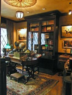 Hugh Alan Luck's Private Library. #decor #preppy