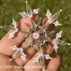 cristal de gelo em papel