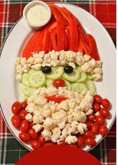 26 grönare snacks på julbordet - 101ideer.se Meat Appetizers, Appetizers For A Crowd, Vegetable Appetizers, Vegetable Trays, Christmas Desserts, Christmas Veggie Tray, Christmas Bread, Xmas Food, Christmas Appetizers