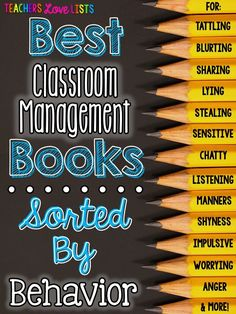 Best Classroom Management Books Sorted by Behavior - these are such perfect read alouds to address tattling, chatty class, using an inside voice, lying, stealing, listening, everything! Save this link!