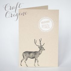 Grand Cerf - Tampon caoutchouc - Craft Origine #craftorigine #diy #tampon #scrapbooking #stamps #noel #cerf #deer